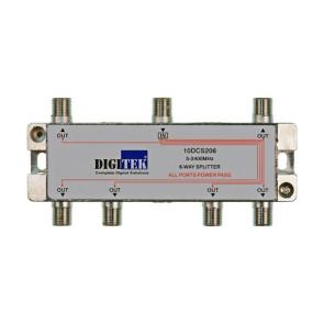 Digitek 6 Way F Type TV Antenna Splitter 5-2400Mhz ALPP