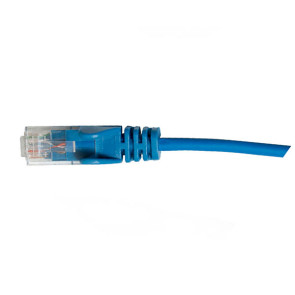 Hypertec CAT6 Slim Patch Lead 28awg Blue 0.3m