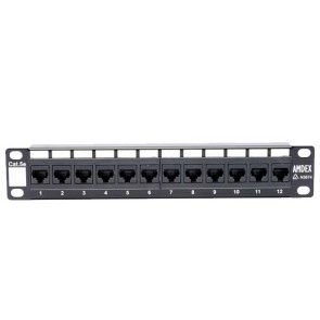 "Amdex SOHO 10"" CAT5e 12 Port Patch Panel DA10-12P-C5e"