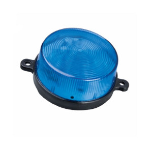 Blue Strobe 12V DC LED Water Proof Round Two Tab Fixing 70mm Diameter