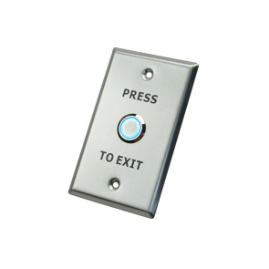 X2 Illuminated Exit Button Stainless Steel - Large SPDT 12VDC X2-EXIT-012