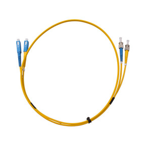ST-SC OS1 Single Mode Duplex LSZH Fibre Patch Lead 15m