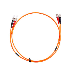 ST-ST Duplex OM1 Multimode Fibre Patch Lead 1m