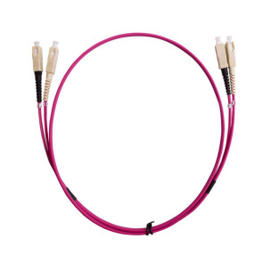 SC-SC Duplex OM4 Multimode Fibre Patch Lead 1m