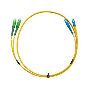 SCA-SC  Single Mode Duplex LSZH Fibre Patch Lead 5m