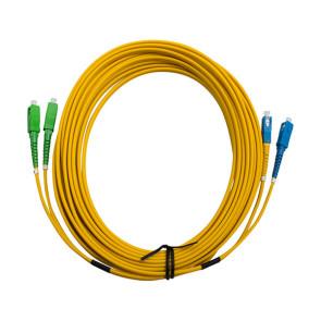 SCA-SC  Single Mode Duplex LSZH Fibre Patch Lead 15m